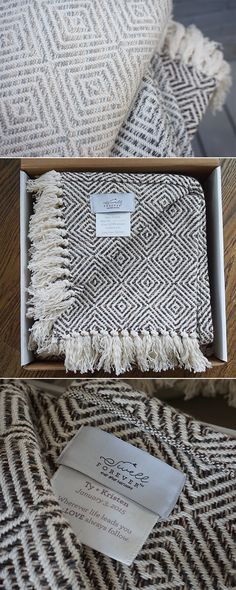 Forever Blanket Alpaca Collection by Swell Forever. Cotton + Alpaca blend in gorgeous neutral colors. Made in USA throws that can be personalized with fabric message tags. Ideal for wedding gifts, mother's day, valentine's day and couples gifts. A palette of cream, brown, grey, and neutral tones. Personalized for your special loved one or event. Incredibly unique gift idea.