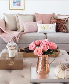 25 beautiful living room decorations 19 ⋆ All About Home Decor Blush Living Room, Brown And Cream Living Room, Cream Living Rooms, Living Room Grey, Living Room Sofa, Living Room Interior, Living Room Decor, Cream And Gold Bedroom, Bedroom Decor