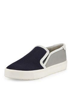 Vince Bram Mesh Slip-On Sneaker, Stone