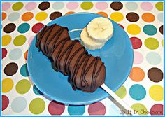 Frozen Choco-Banana Skewers