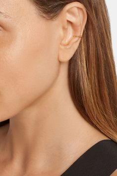 Arme De L'Amour | Simple Sphere gold-plated nose ring or ear cuff