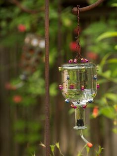 Upcycle a Tequila Bottle into a Hummingbird Feeder | how-tos | DIY
