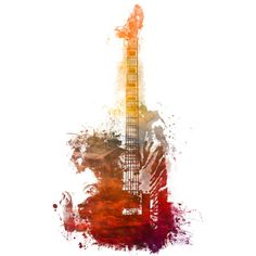 Red bass guitar is a T Shirt designed by jbjart to illustrate your life and is available at Design By Humans