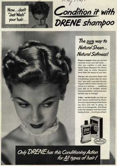 Vintage Beauty and Hygiene Ads of the (Page Vintage Advertisements, Vintage Ads, Vintage Images, 1950s Hairstyles, Vintage Hairstyles, Roller Set, Pin Curls, Vintage Beauty, Still Image