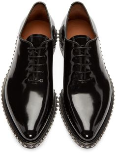 Givenchy - Black Studded Oxfords $1050 / 695 EUR. Top view.