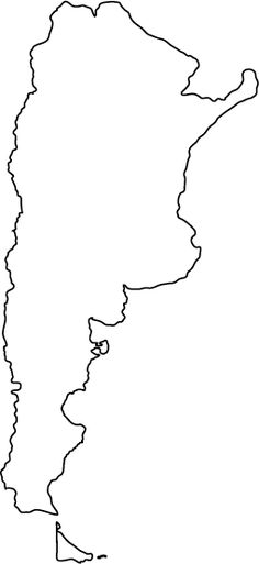 Argentina Political Map ARGENTINA Pinterest Argentina Map - Argentina map black and white