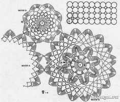 Салфетка – дорожка крючком, схема