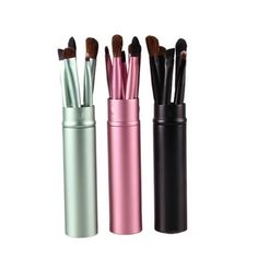 5 PCS Professional Eye Makeup Brushes Set Eyeliner Eyeshadow Blending Brush