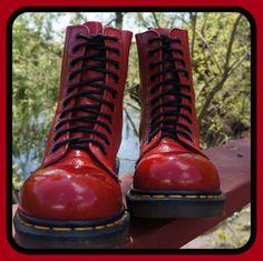 80s Doc Martens Army / Combat Steel Toe Boots door RenegadeRevival