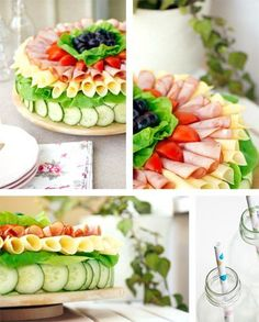 Sandwich cake, this is beautiful. Sandwich Torte, Good Food, Yummy Food, Swedish Recipes, Tea Sandwiches, Snacks Für Party, Food Decoration, Appetisers, Savoury Cake