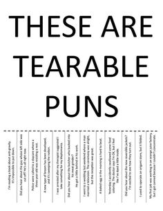tearable puns - Google Search