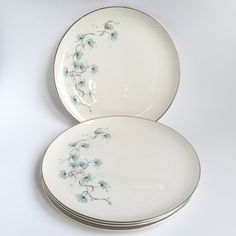 Tayor Smith and Taylor Versatile, Blue Lace, Dinner Plates (4) by PowersMod on Etsy
