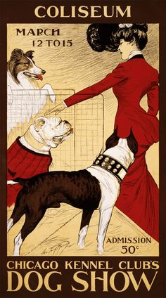 Chicago Kennel Club's Dog Show, poster by George Ford Morris , 1902