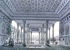 Pascal Xavier (after) Coste:Interior View of the Pavilion of Mirrors Isfahan