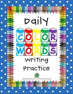 Here are 13 sheets of color word practice.  Included are 10 sheets of one color per sheet practice and 3 sheets of mixed practice.  These are great...