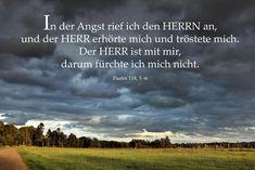 In der Angst rief ich den herrn an, ... Psalm 118, 5-6