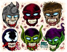 MZ Villains Tattoo Flash by ~MonsterInk