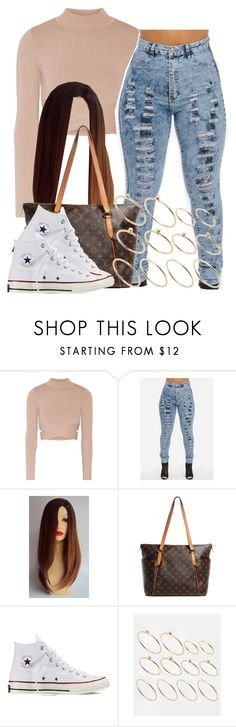 """""""."""" by trillest-queen ❤ liked on Polyvore featuring Jonathan Simkhai, Louis Vuitton, Converse and ASOS"""