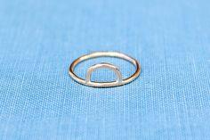 Sunrise Ring Rose Gold Filled Sun Ring Midi Ring Sun