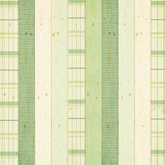 Green Patterns On Wood Backdrop
