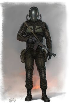 The Bubble Project was developed after the Kipian Rebels unleashed a nerve agent in the western jungles of the capital. Only the rebels were immune to the adverse affects. These specialized soldiers wear advanced bio suits for special operations within what the Kipian Loyalist Government calls the Bogs.