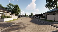 26 on Vlei - Rynfield, Benoni - 2019 Sidewalk, Street View, Modern, Home, Trendy Tree, Side Walkway, Sidewalks, Pavement, Haus