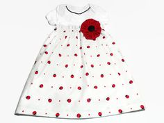 Baby Dress Ladybugs Baby Girl Bodysuit Dress by PeaPodLilFrogs