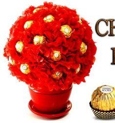 DIY Chocolate bouquet easily with Ferrero Rocher - gift idea // Ferrero Rocher csoki bonbon gömb virág csokor egyszerűen // Mindy - craft tutorial collection // #crafts #DIY #craftTutorial #tutorial #ValentineCrafts #ValentinesDayCrafts #DIYAnniversaryGifts