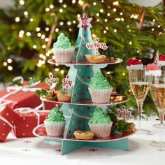 Display your tasty mince pies or Christmas cupcakes on this amazing 3 tier Christmas tree stand. A fun centerpiece or room decoration. Easy to assemble with dimensions of x x when assembled. Xmas Decorations, Birthday Party Decorations, Christmas Tree Cupcakes, Christmas Ornaments, Christmas Goodies, Christmas Holidays, Christmas Ideas, Wholesale Party Supplies, Christmas Inspiration