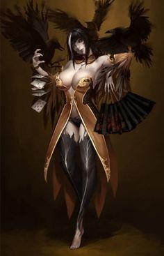 As belas e sensuais mulheres nas ilustrações de fantasia de Bangku An