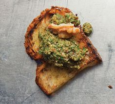 Pesto di Noce (Walnut Pesto) - 1 1/2 cups packed basil  1/2 cup olive oil  1/3 cup toasted walnuts  1/4 cup finely grated pecorino  1/4 cup finely grated parmesan  2 sun-dried tomatoes in oil, chopped  2 cloves garlic  Kosher salt and freshly ground black pepper, to taste