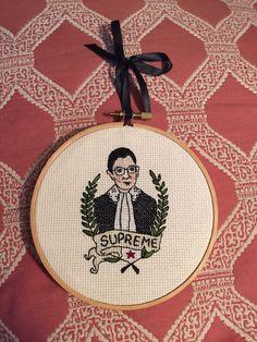 Ruth Bader Ginsberg Cross stitch by crossstitchbyrachel on Etsy