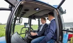 Take the wheel! King Willem-Alexander of The Netherlands took control of a tractor during a visit to a farm to see the latest technological developments in the dutch agricultural sector.