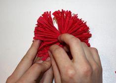 Kvety zo servitiek a krepového papiera 21