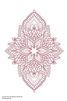 Simple Mandala Tattoo, Dotwork Tattoo Mandala, Geometric Mandala Tattoo, Mandala Tattoo Design, Mandala Art, Tattoo Designs, Ornate Tattoo, Ornamental Tattoo, Dream Catcher Art