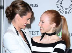 Stana Katic and Molly Quinn at PaleyFest 2012 on March 9, 2012