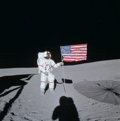 Apollo 14: Alan Shepard on lunar surface, January 1971
