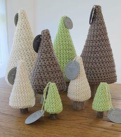 Winter - gehäkelter Baum (Gr XL) *freie Farbwahl* 'Holz' - ein Designerstück von schoenundselbstgemacht bei DaWanda