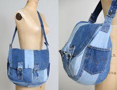 70s Levis Patchwork Messenger Bag Large Indigo Denim Handmade Crossbody Purse by RoslynVTGTradingCo on Etsy https://www.etsy.com/listing/497374336/70s-levis-patchwork-messenger-bag-large