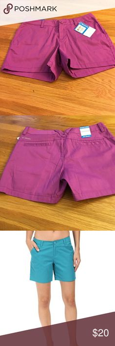 """NWT Columbia Shorts 4"""" Inseam Kensie Cove Shorts New with tags. Photo of model in diff color to show fit. Size 4 regular. Waist 15"""" across measured left to right across front. Columbia Shorts"""