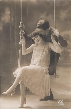 Romance on a swing