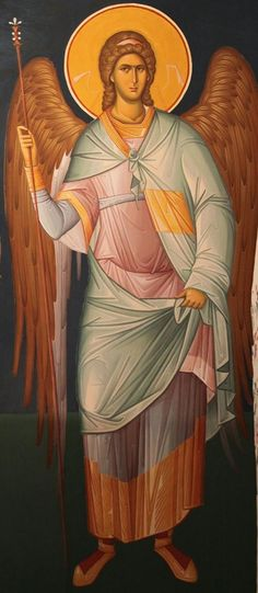 (Arcanjo Miguel) Last year we posted an article about young Romanian iconographers creating traditional icons looking partially to modern art for elements to include in their work. With the spiritual renewal of R… Byzantine Icons, Byzantine Art, Becoming A Monk, Paint Icon, S Icon, Principles Of Art, Angels Among Us, Orthodox Icons, Angel Art