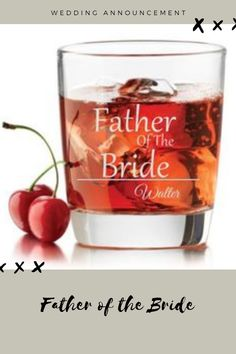 Make your wedding announcement extra special with this custom whiskey glass. Godfather Gifts, Wedding Announcements, Father Of The Bride, Groomsman Gifts, Baby Boy Shower, Groomsmen, Whiskey, Make It Yourself, Mugs