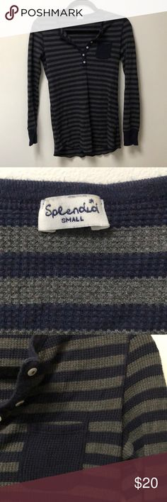 Splendid Knit Henley Super comfy lounge henley. Worn once or twice and in excellent condition. Splendid Tops