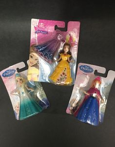 3 New MagiClip dolls Anna Elsa Belle on Mercari Mattel Dolls, Anna Frozen, Disney Dolls, Beauty And The Beast, Elsa, Childhood, Magic, Art, Toys
