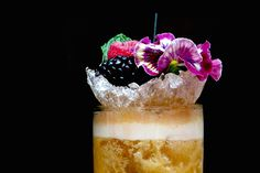 Cocchi Cobbler: Cocchi Rosa, vodka, passion fruit, lime, simple syrup