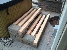 Back Porch Steps Off Patio . Back Porch Steps Off Patio . Deck and Patio Bo Patio Steps, Front Porch Steps, Wood Steps, Garden Steps, Stone Steps, Concrete Patios, Concrete Steps, Wood Patio, Wood Benches