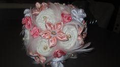 Svatební kytice z textilu