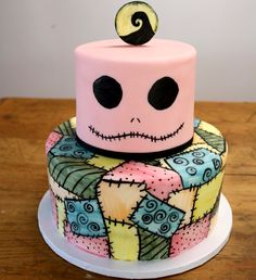 Wonderful Nightmare Before Christmas Inspired Baby Shower Cake By Sablée!
