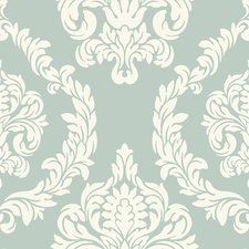 "Candice Olson Inspired Elegance Aristocrat 27' x 27"" Damask Wallpaper"